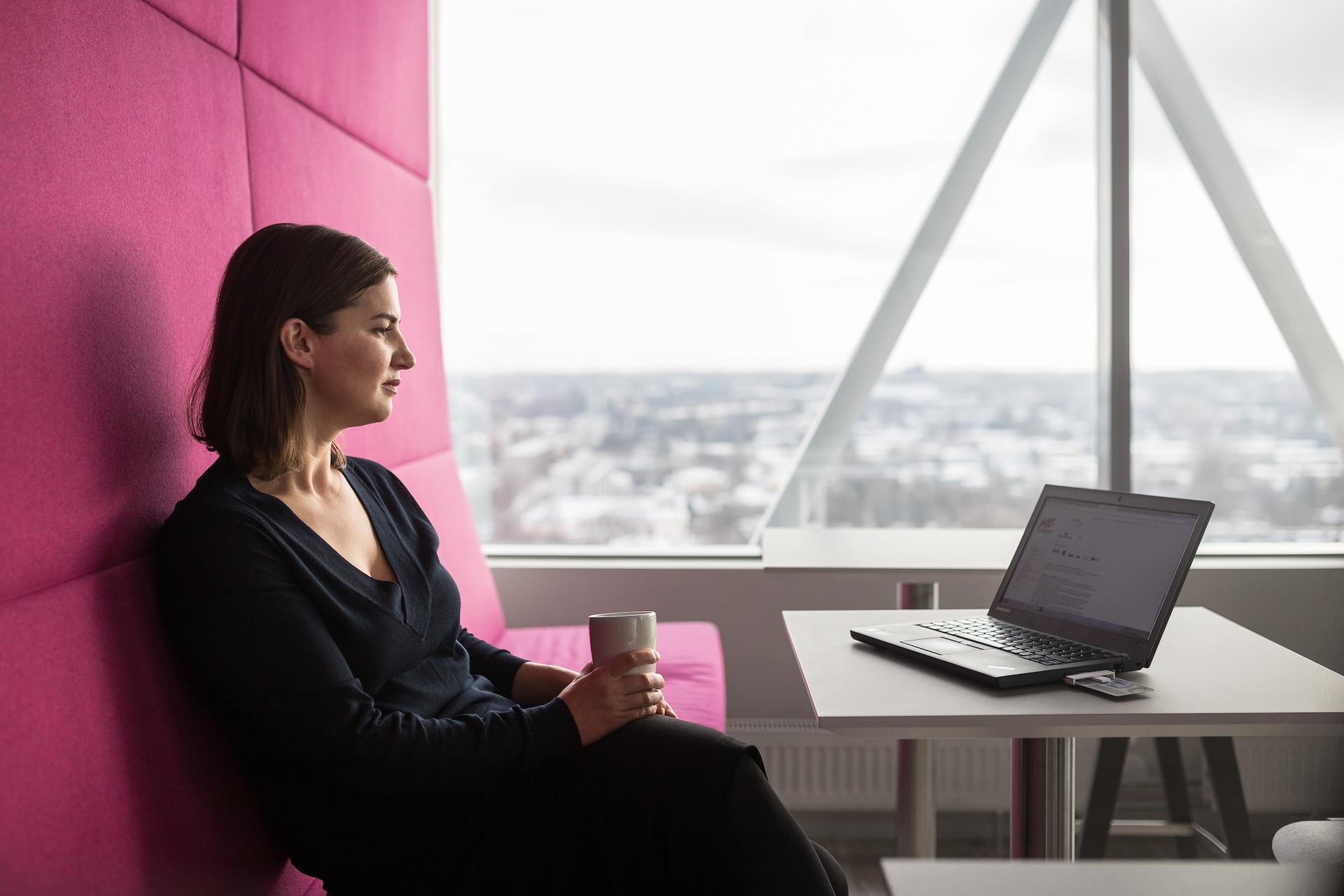 Woman, laptop, internet