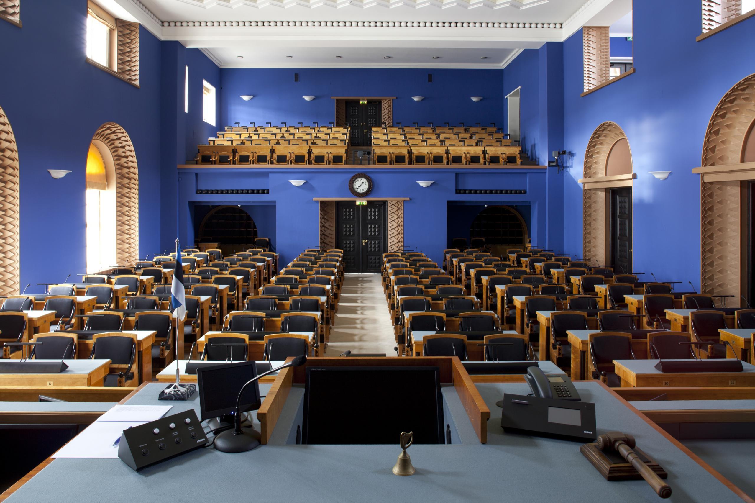 Estonian parliament main hall
