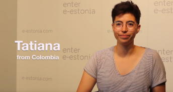 Screenshot of youtube video from an interview with Tatiana
