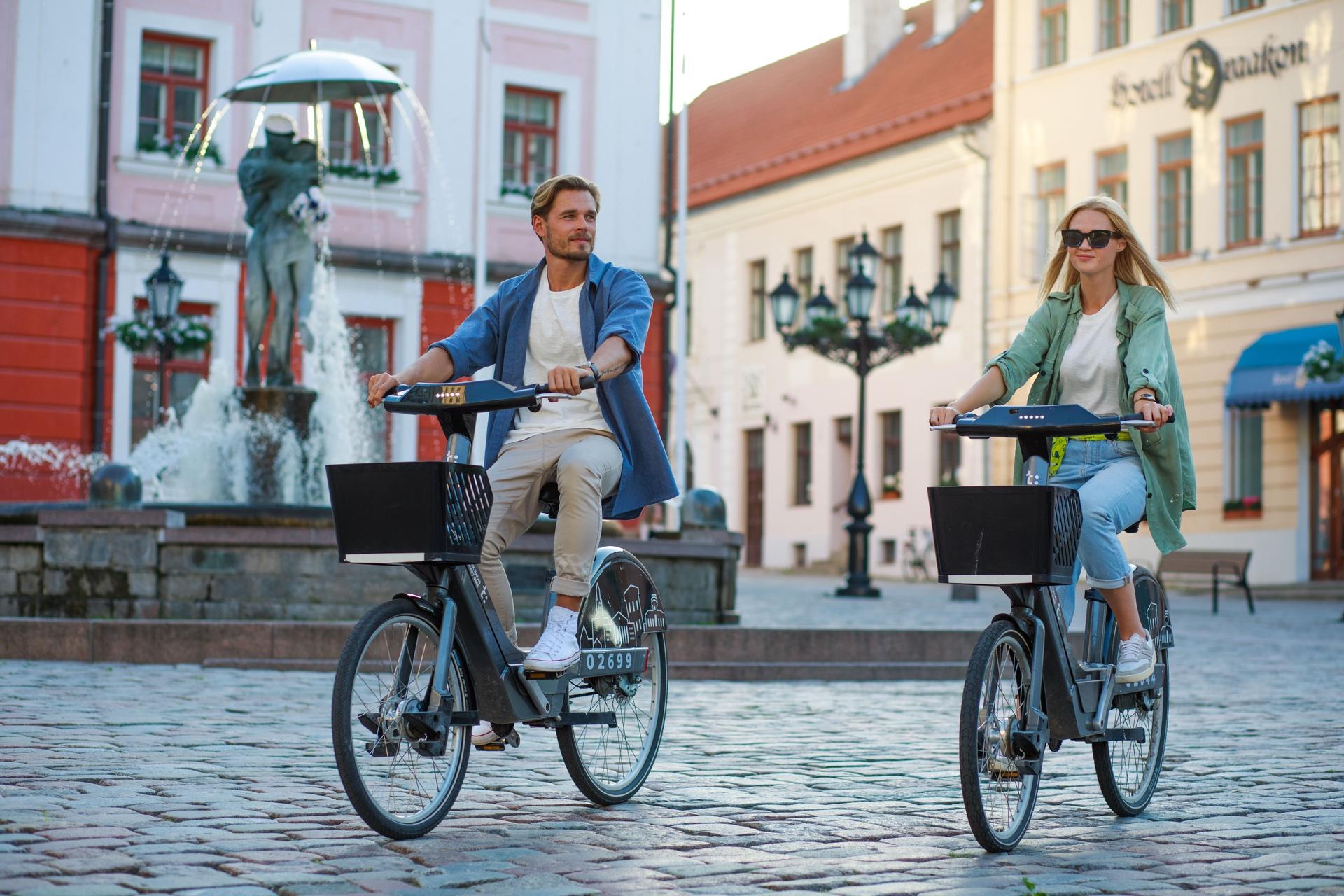 Biking in Tartu