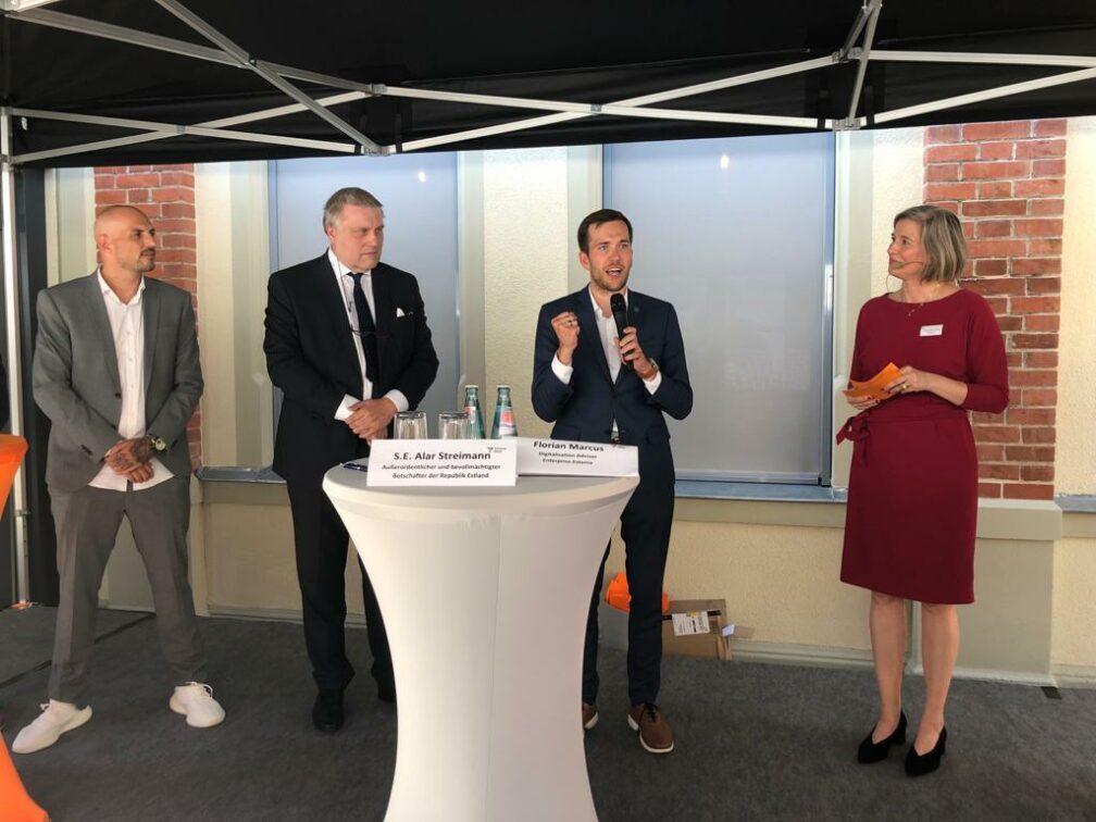 Florian Marcus, the Estonian Ambassador etc. opening Mittweida